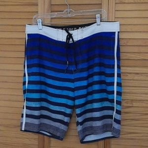 American Eagle Outfitters Striped Swim Shorts